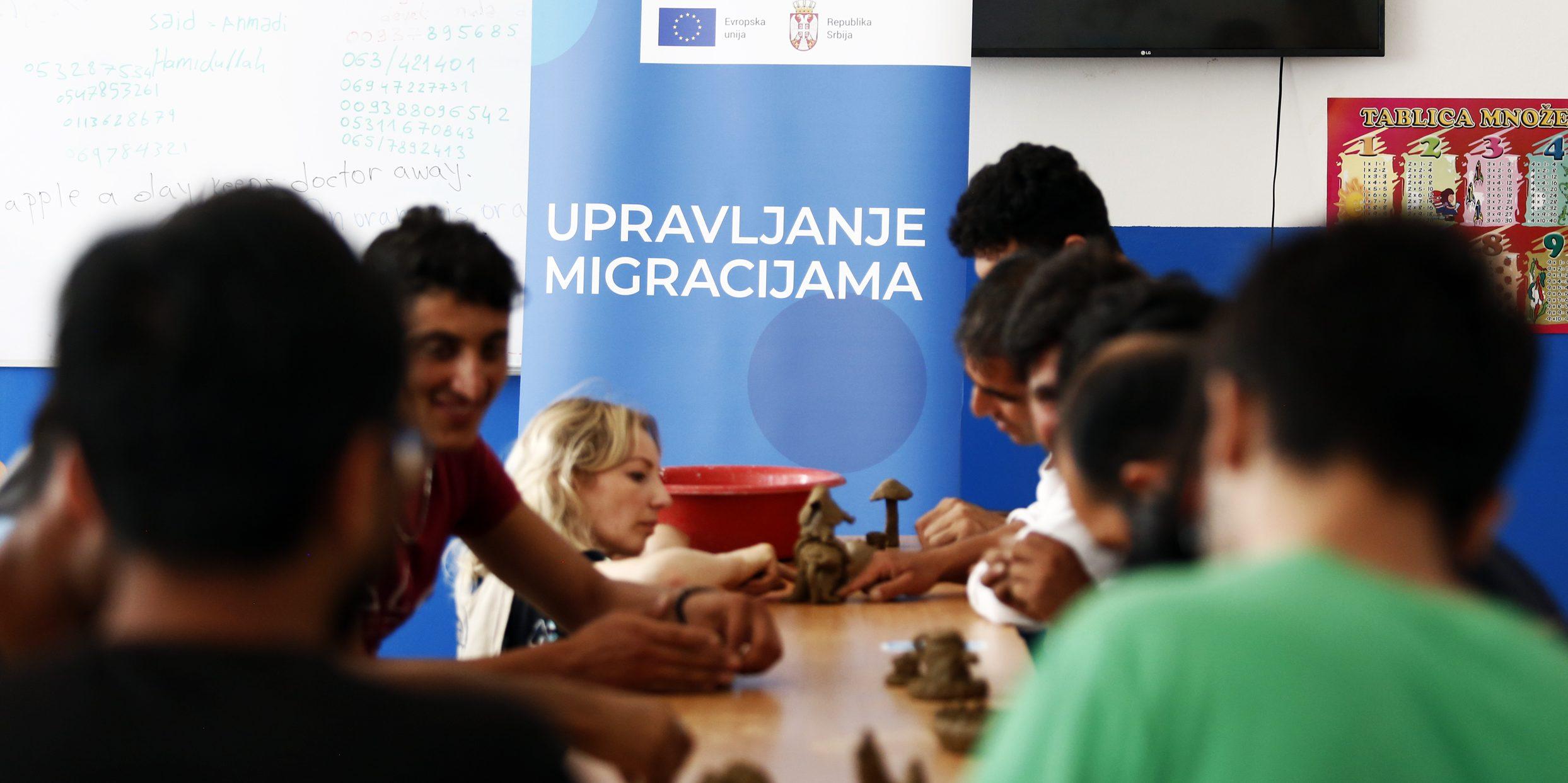 Održana grnčarska radionica za migrante u PC Obrenovac