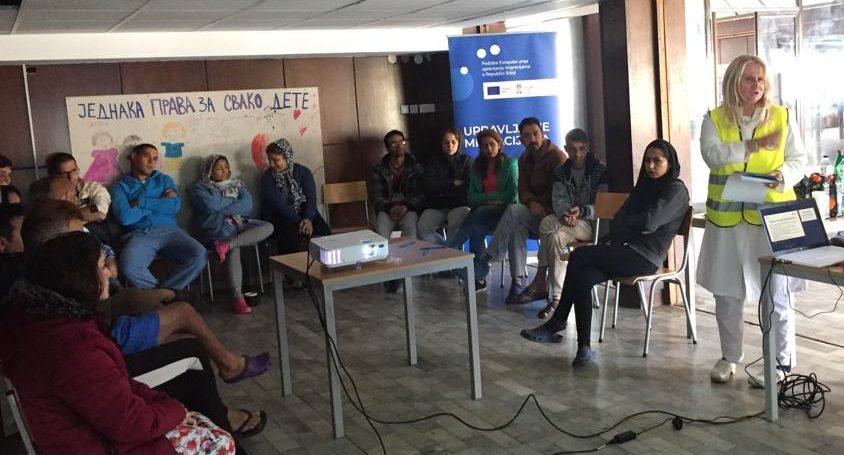 Održane prve zdravstveno-edukativne radionice za migrante