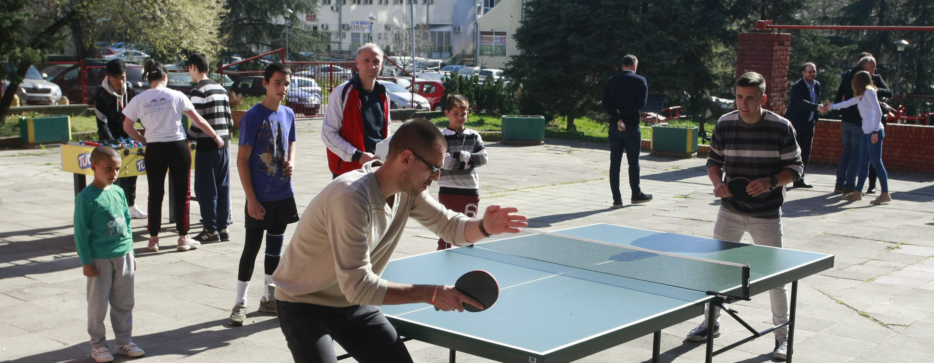 "Migrants also participated in a table tennis tournament in the Home ""Jovan Jovanovic Zmaj"" in Belgrade"