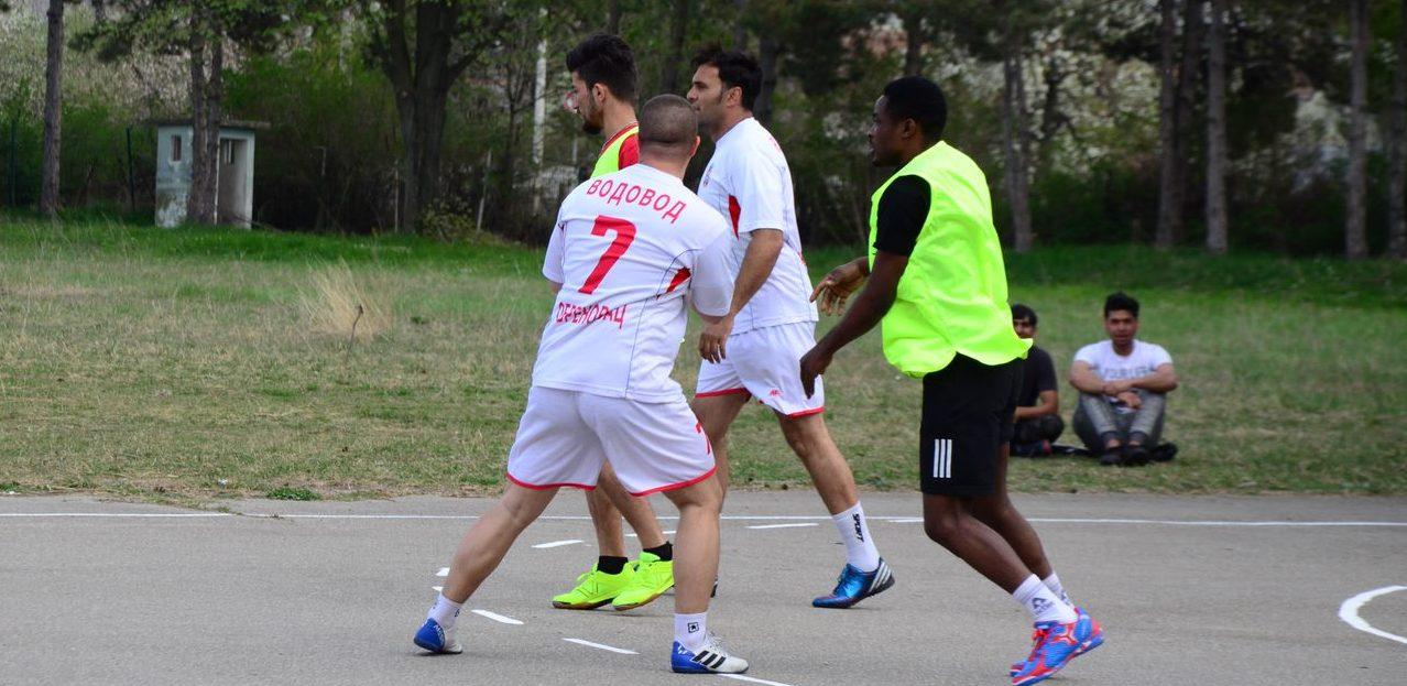 Football Tournament in the Reception Center in Obrenovac