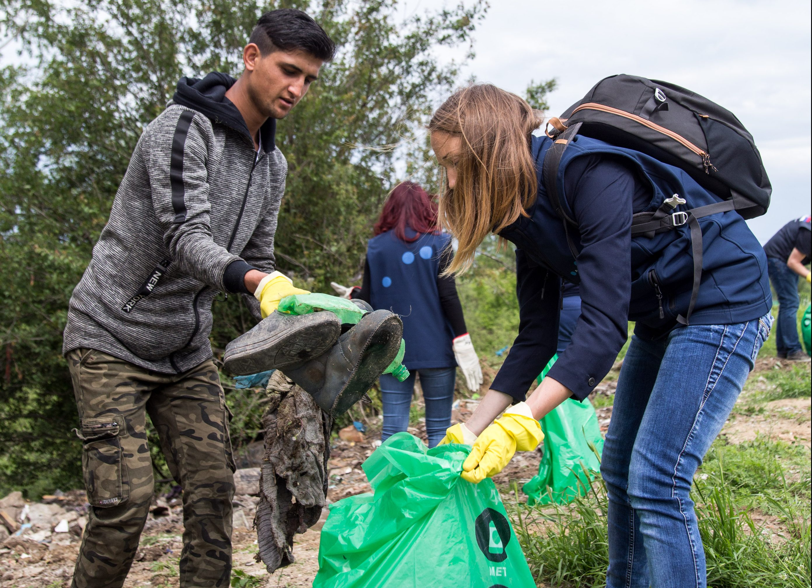 Spring cleaning of the Asylum Centre in Krnjaca