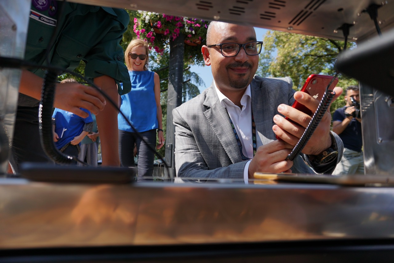 Obrenovac gets its first solar smart bench