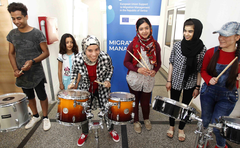 Održane perkusionističke radionice za migrante