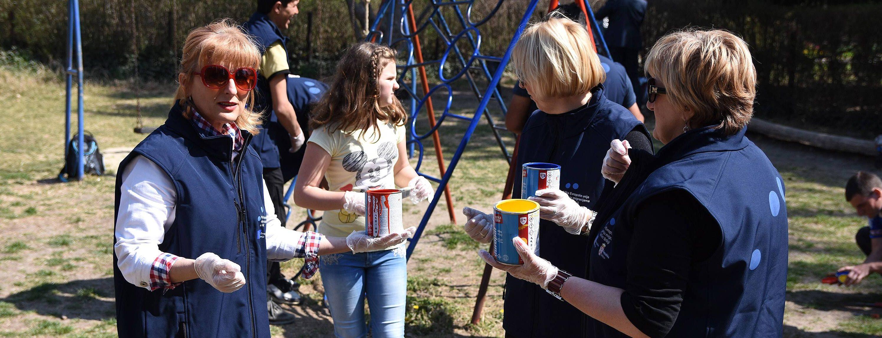 Udruženim snagama uređeno dečje igralište u ZOO vrtu na Paliću